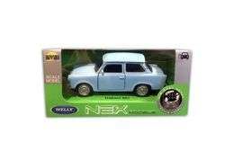 TRABANT 601 BŁĘKITNY METALOWY MODEL 1:34 WELLY